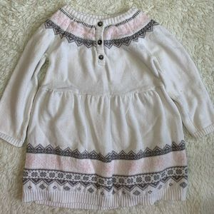 Baby girl sweater dress from Carter's